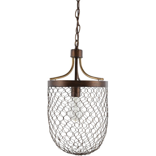 Furrow Brown 12-Inch One-Light Pendant