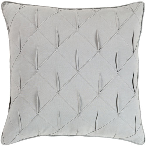 Gretchen Light Gray 20-Inch Pillow With Polyester Fill