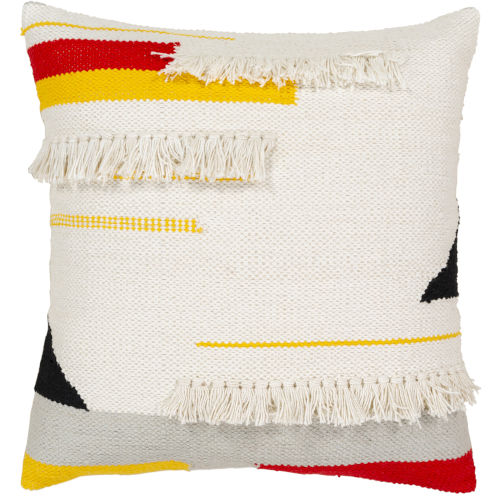 Harley White 20-Inch Pillow Cover