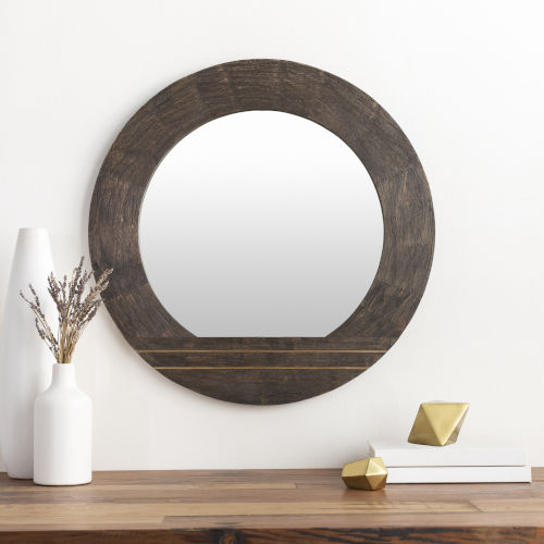 Haveli Brown 28-Inch Wall Mirror