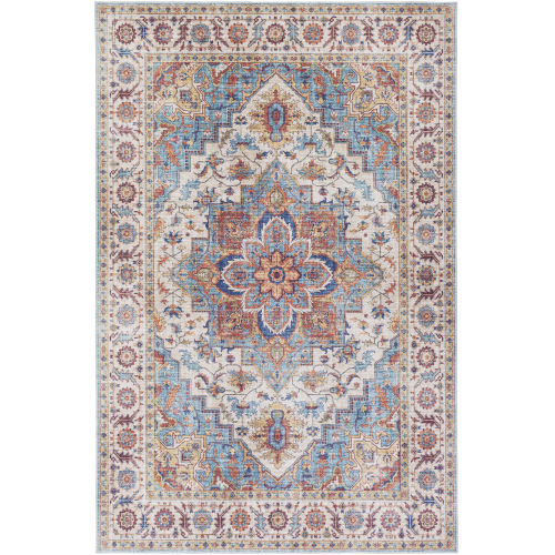 Iris Ice Blue Rectangle 2 Ft. 3 In. x 3 Ft. 9 In. Rug