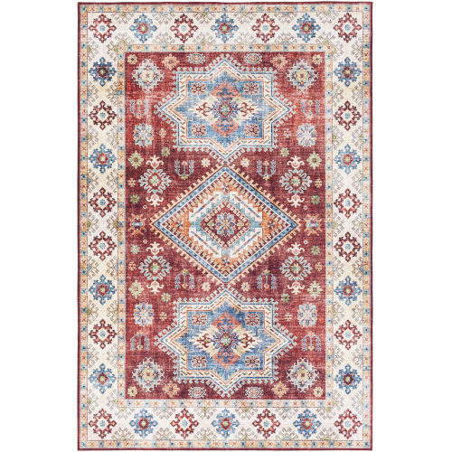 Iris Dark Red Rectangle 2 Ft. 3 In. x 3 Ft. 9 In. Rugs