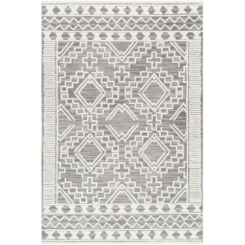 Izmir Charcoal Diamonds Rectangle 5 Ft. x 7 Ft. 6 In. Rug