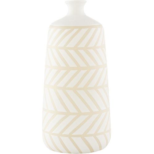 Kisii White 14-inch Vase