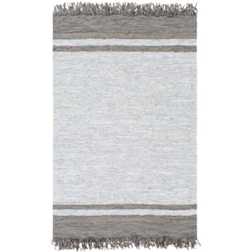 Lexington Dark Brown and Light Gray Rectangular Rug