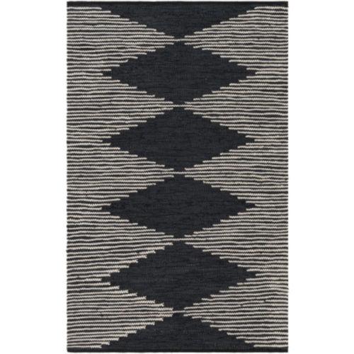 Lexington Black and Khaki Rectangular Rug