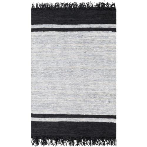 Lexington Black and Light Gray Rectangular Rug