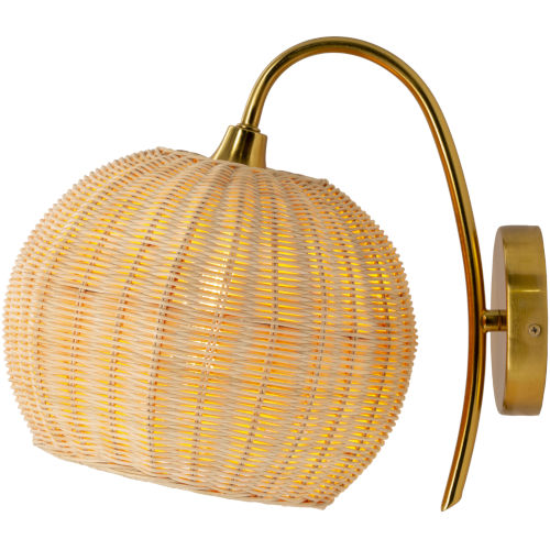 Mina Rattan One-Light Wall Sconce