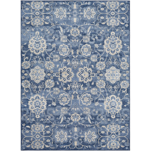 Monaco Bright Blue Rectangle 4 Ft. 3 In. x 5 Ft. 11 In. Rugs