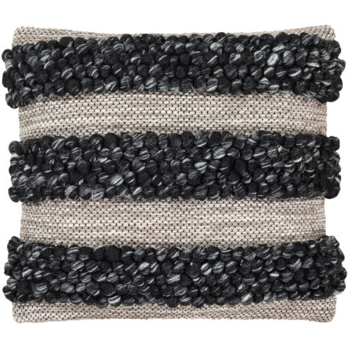 Anton Black 18-Inch Pillow With Down Fill