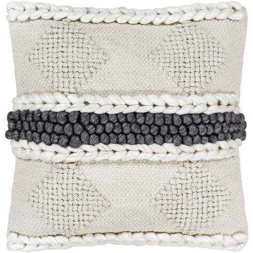 Anton Khaki 18-Inch Pillow With Polyester Fill