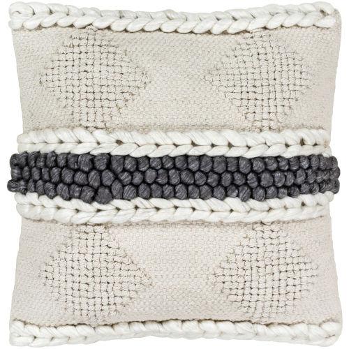 Anton Black 18-Inch Pillow Cover