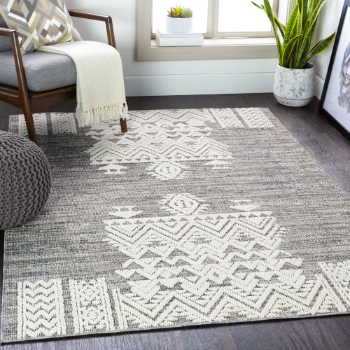 Ariana Medium Gray Rectangle 4 Ft. 3 In. x 5 Ft. 11 In. Rug
