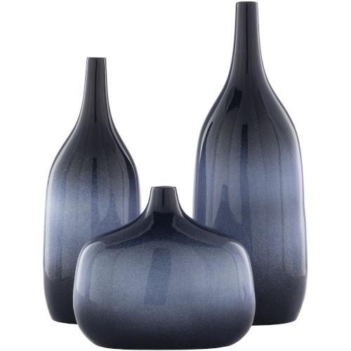 Sparta Blue Vases, Set of 3