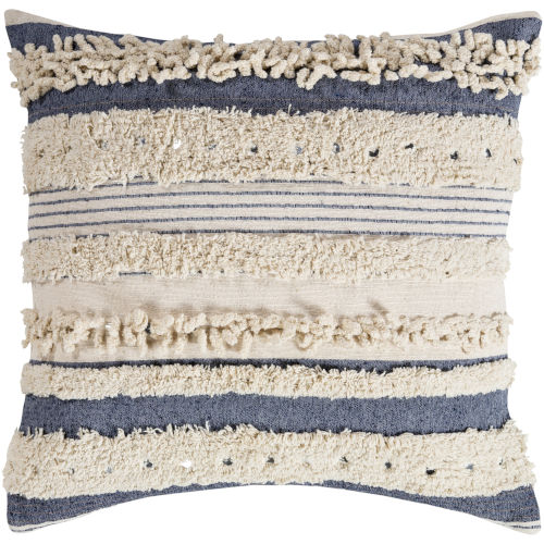 Temara Navy 18-Inch Pillow With Polyester Fill