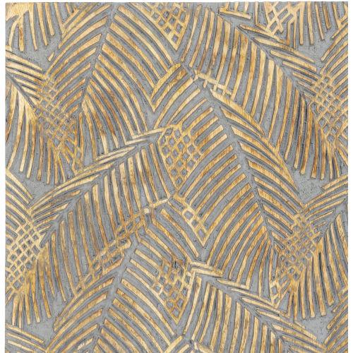 Tanu Gray Palm Leaf 24-Inch Wall Art