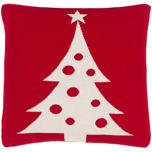 Very Merry Bright Red 18-Inch Throw Pillow