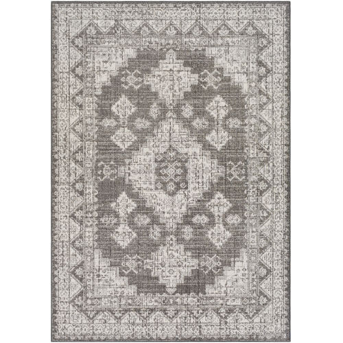 Veranda Dark Brown Traditional Rectangle 6 Ft. 7 In. x 9 Ft. Rug