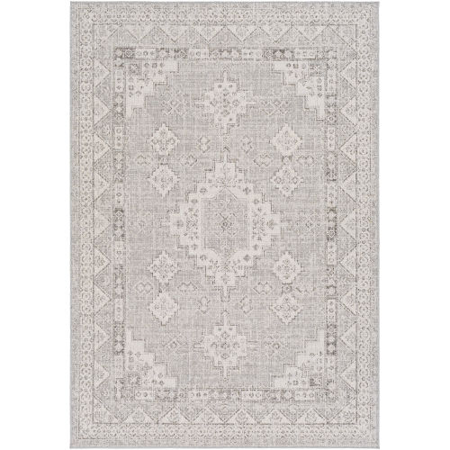 Veranda Taupe Traditional Rectangle 6 Ft. 7 In. x 9 Ft. Rug