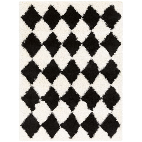 Winfield Black and Ivory Rectangle 5 Ft. 3 In. x 7 Ft. 3 In. Rugs