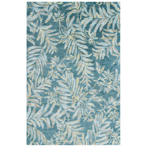 Breezy Teal Wool Area Rug