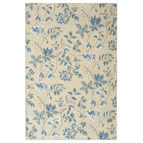 White Willow Slate Wool Area Rug