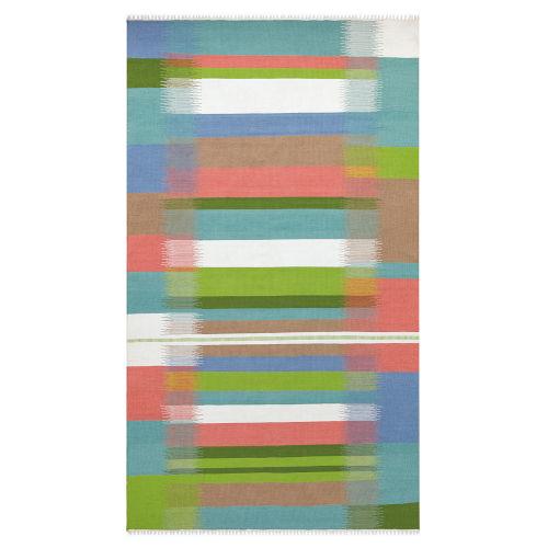 Kokomo Multicolor Polyester Rectangular: 3 Ft x 5 Ft Outdoor Area Rug