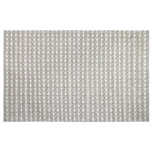 Pebbles Gray Polyester Outdoor Area Rug