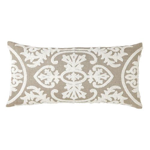 Lana Ivory 24-Inch Linen Throw Pillow