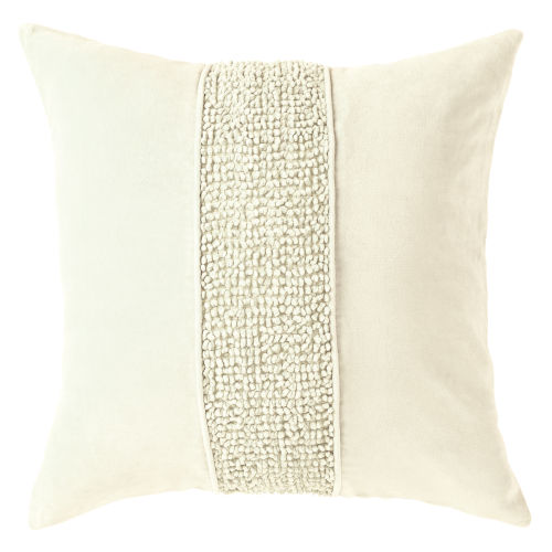 Topaz Oyster 22-Inch Cotton Velvet Throw Pillow
