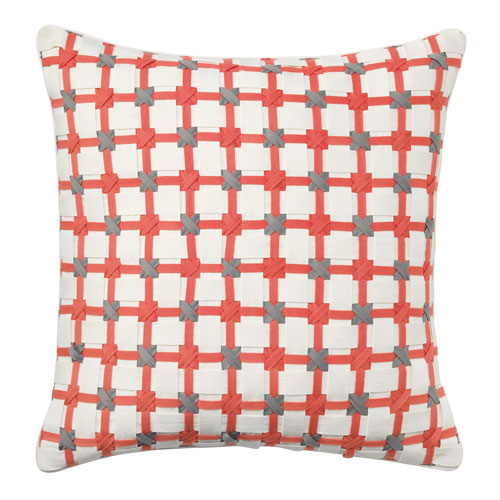 Starboard Coral 22 In. Throw Pillow with Down Insert