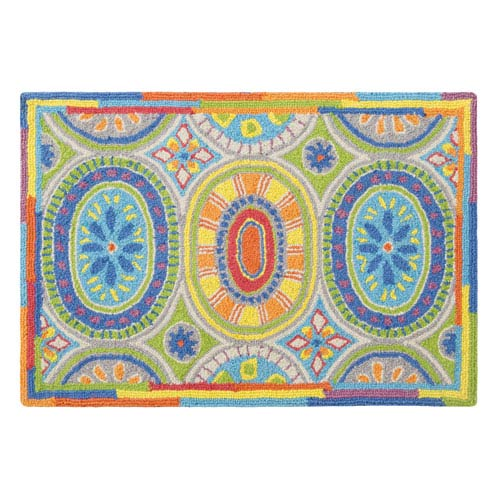Company C High Jinks Multicolor Rectangular: 2 Ft. x 3 Ft. Rug
