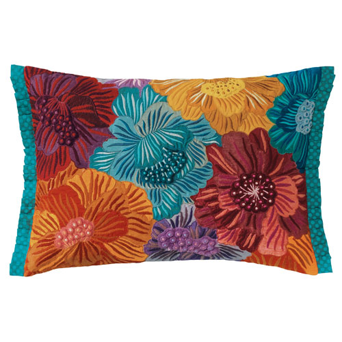 Company C Cream of the Crop Multicolor 14 x 20 In. Throw Pillow with Down Insert
