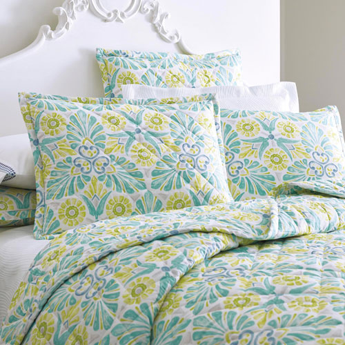 Painted Medallions Standard Quilted Sham