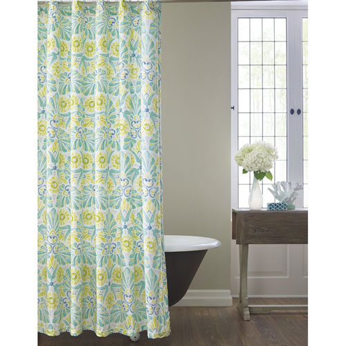 Company C Painted Medallions Shower Curtain