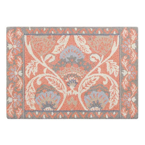 Company C Quinn Coral Rectangular: 2 Ft. x 3 Ft. Rug