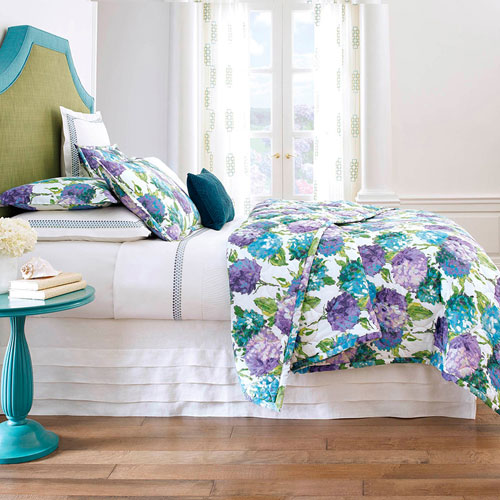 Hydrangea Blue Twin Quilt