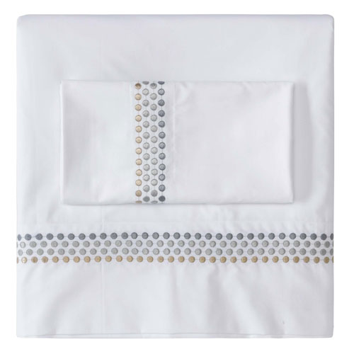 Jewels Platinum Twin Sheet Set