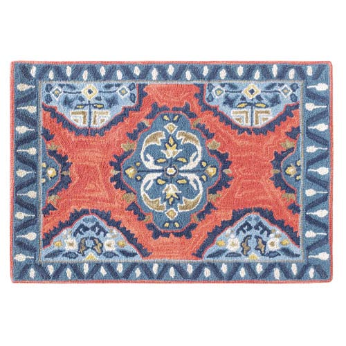 Old Glory Newport Red Rectangular: 2 Ft. x 3 Ft. Rug