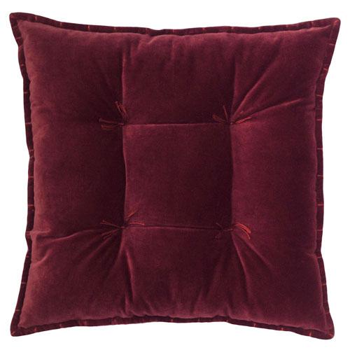 Company C Talia Velvet Burgundy 20 In. Pillow