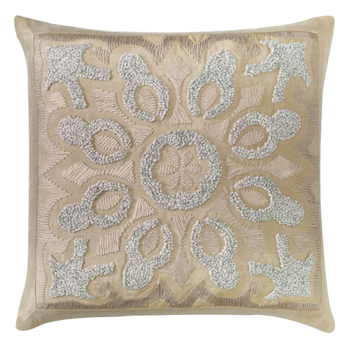 Company C Cassandra Driftwood 22 In. Throw Pillow with Down Insert