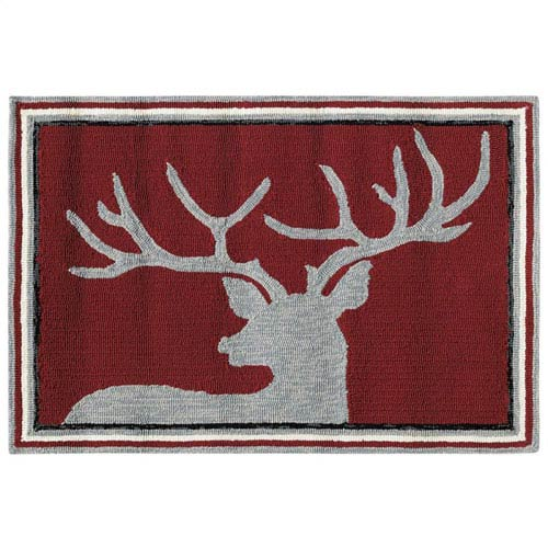 Blitzen Red Rectangular: 2 Ft. x 3 Ft. Indoor/Outdoor Rug