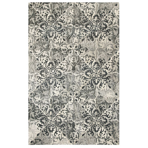 Stone Wall Black Rectangular: 3 Ft. x 5 Ft. Indoor Rug
