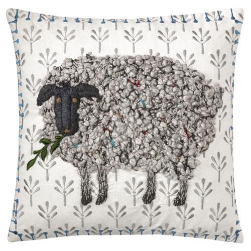 Black Sheep White 18 In. Throw Pillow