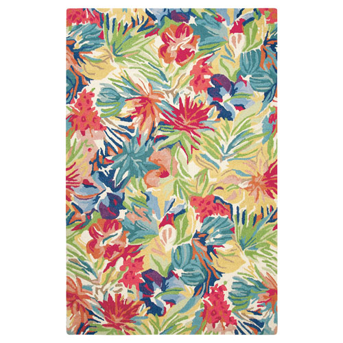 Hibiscus Multicolor Rectangular: 3 Ft. x 5 Ft. Indoor Rug