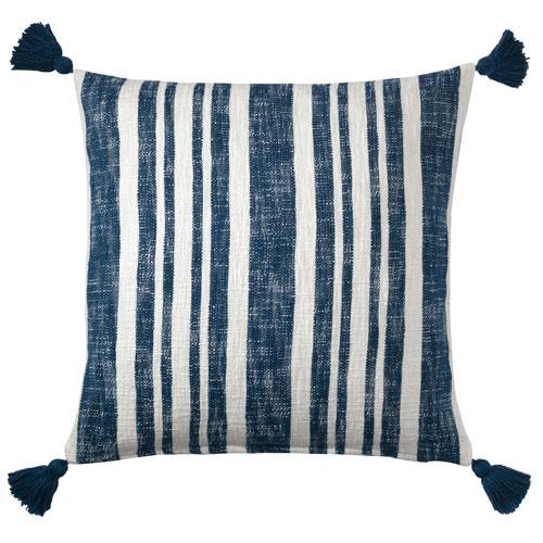 Company C Denim Stripe Navy 16 x 26 In. Throw Pillow