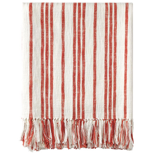 Grain Sack Red Throw