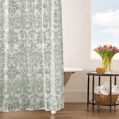 Kate Pewter Shower Curtain
