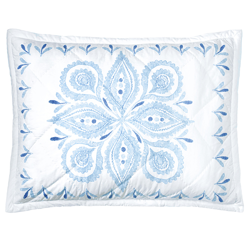 Company C Emma Blue Standard Quilted Sham
