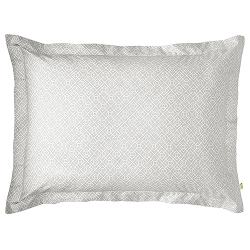 Company C Diamond Lattice Pewter King Duvet Sham